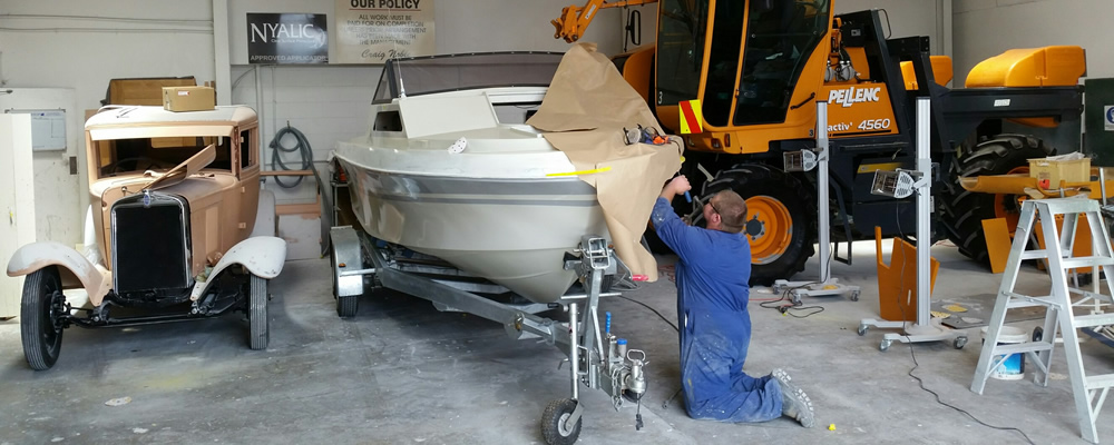 Sport Boat Restoration by Riverside Refinishers in Blenheim NZ